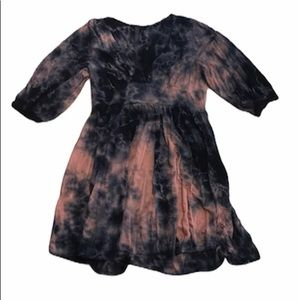 Audrey tie dye quarter sleeve tunic top